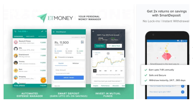 etmoney investment application knowandask