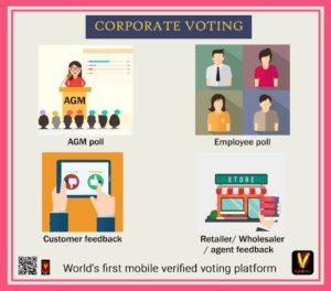 Corporate voting app