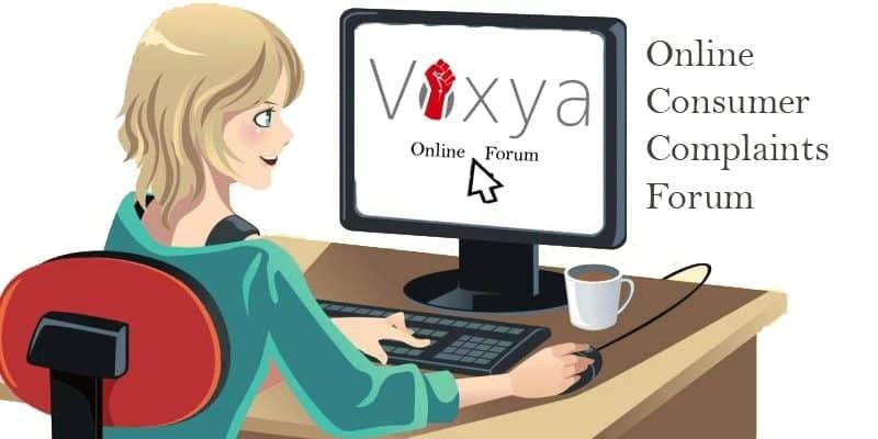 Online complain in consumer forum