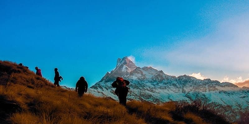 Nepal Trekking Places Mountain base camp