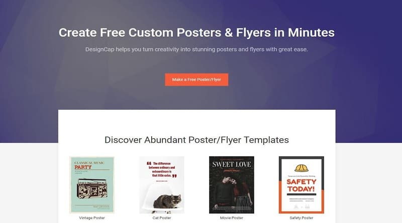 DesignCap Review Create a Professional Poster in Minutes