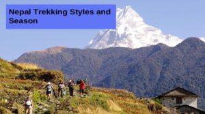 Nepal Trekking Styles and Season