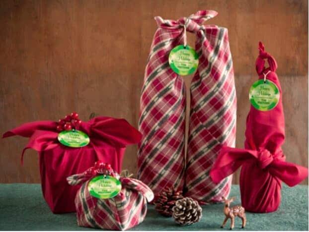 Fabric Gift Wrap gift box