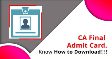 CA Final Admit Card