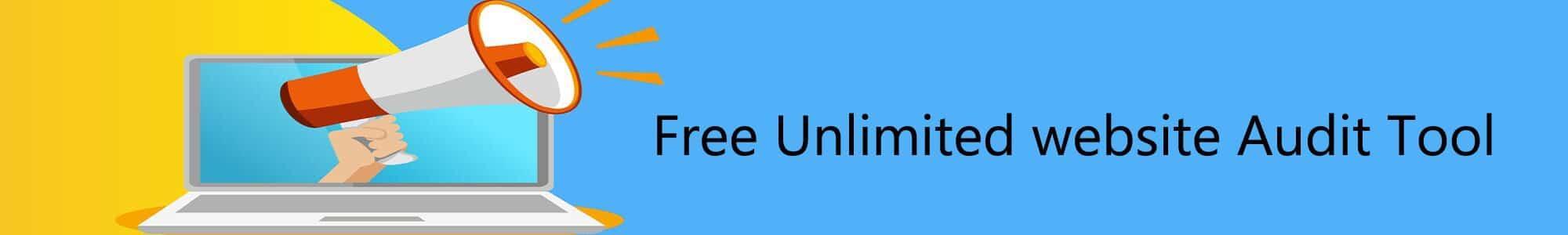 Unlimited free website Audit tool