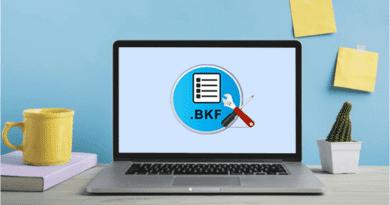 Restore BKF files in Windows 10