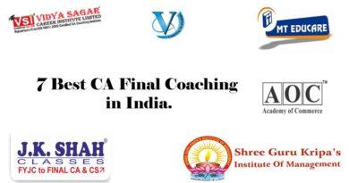 7 Best CA Coaching in India.