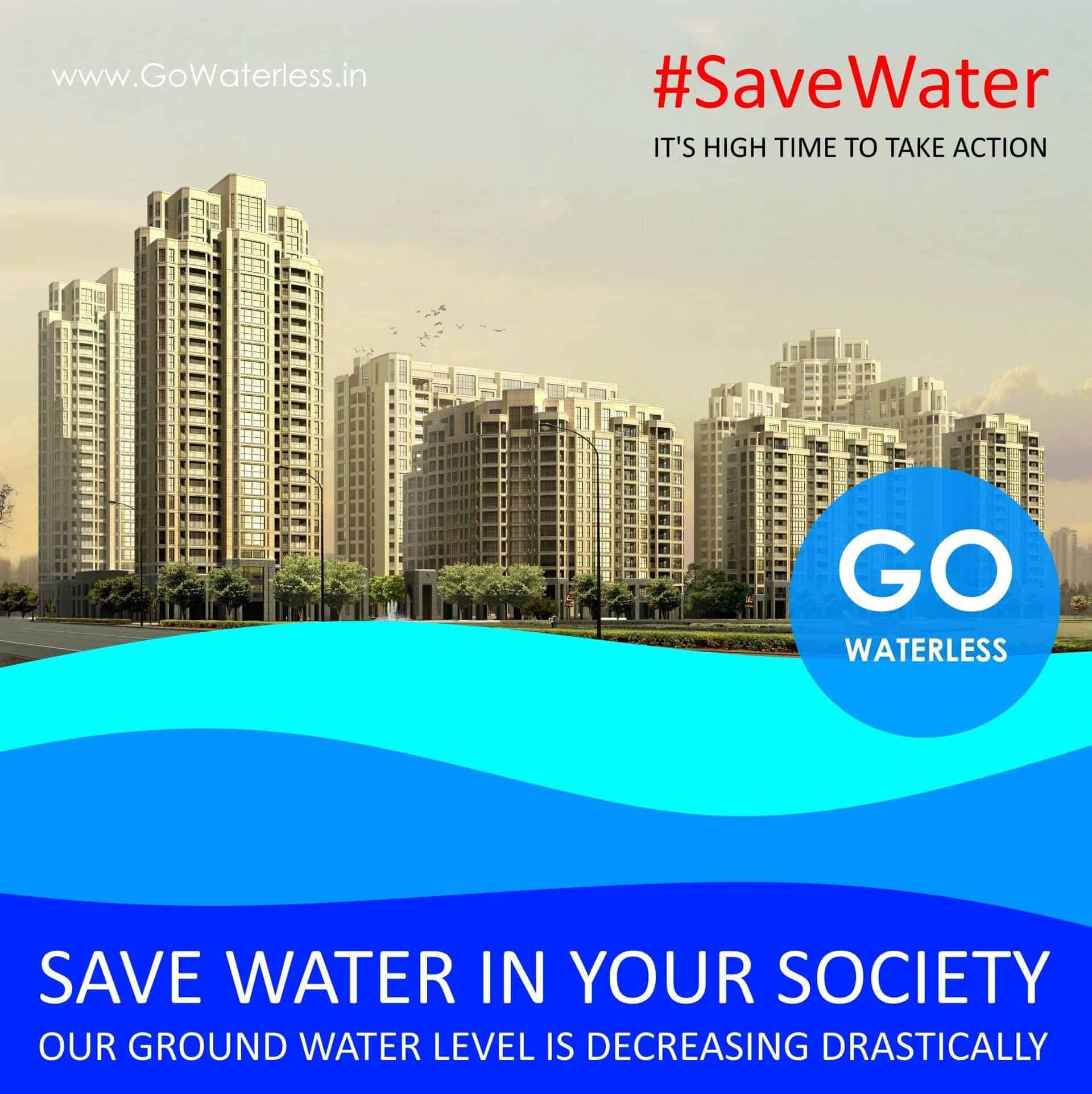 Save water in society