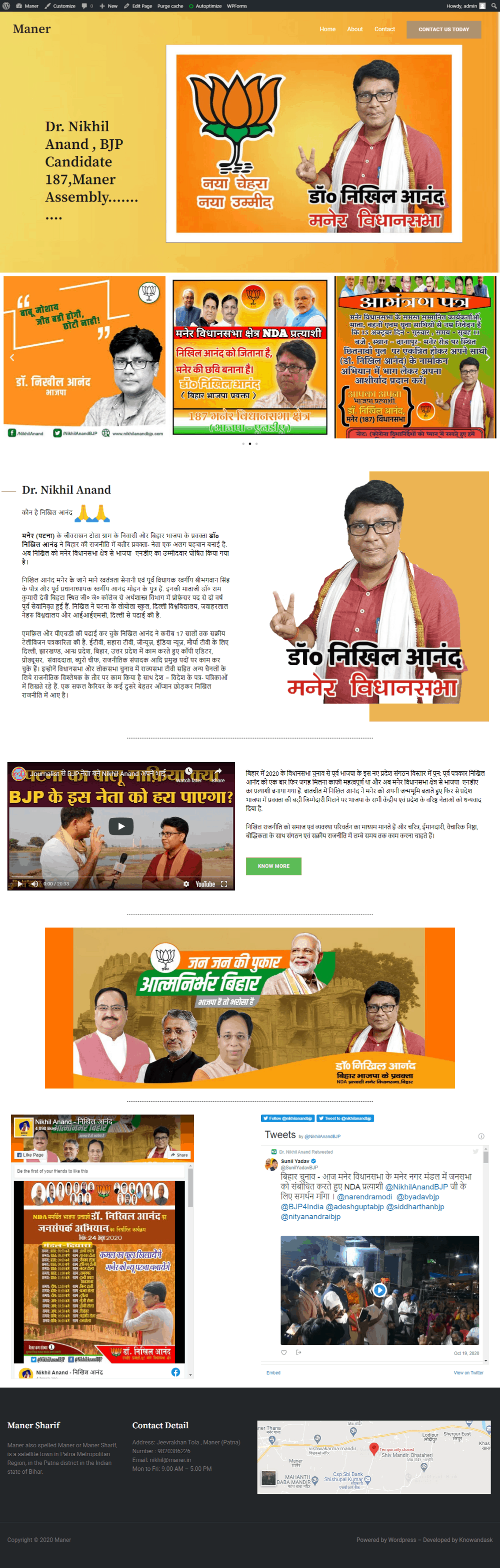 Maner Political Website Development work